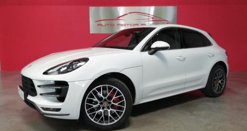 Porsche Macan TURBO Blanc occasion à SAINT ANDRE DE CORCY