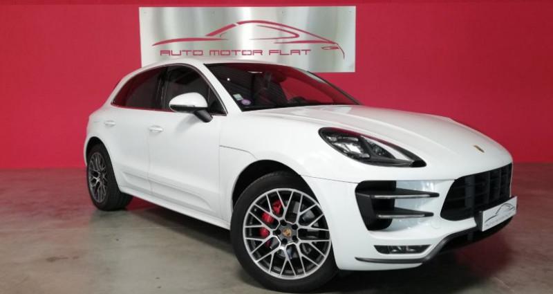 Porsche Macan TURBO Blanc occasion à SAINT ANDRE DE CORCY - photo n°2