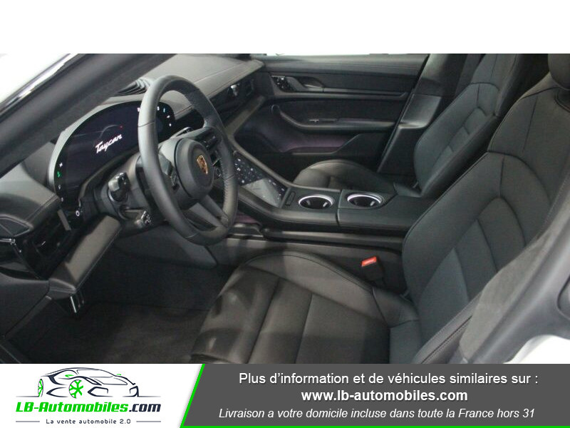 Porsche Taycan 680 ch / Turbo Blanc occasion à Beaupuy - photo n°4