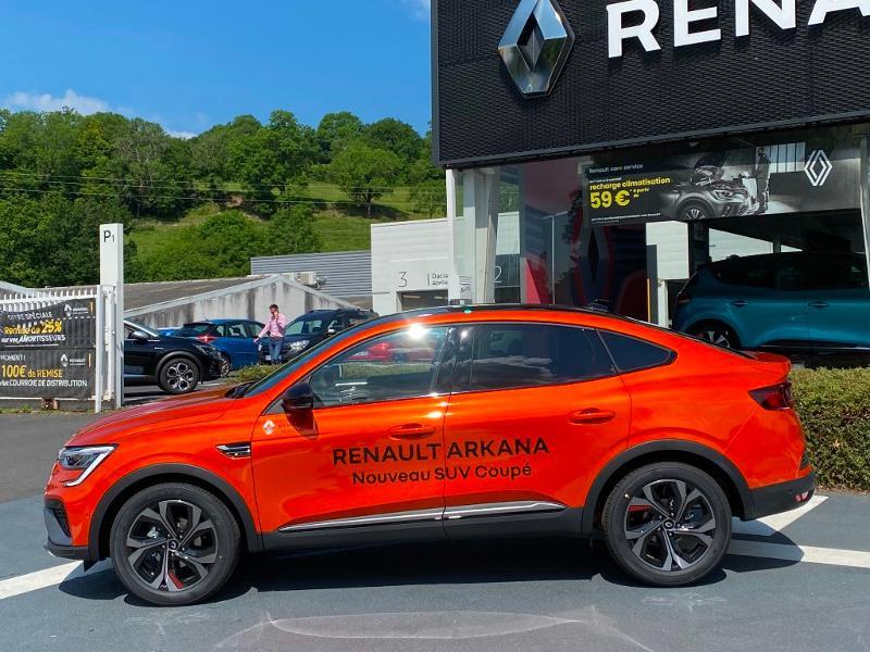 Renault Arkana 1.6 E-Tech 145ch RS Line -21B Orange occasion à Aurillac - photo n°4