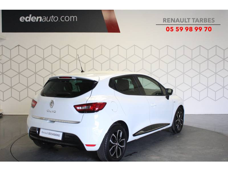 Renault Clio IV 1.2 16V 75 Limited Blanc occasion à TARBES - photo n°5