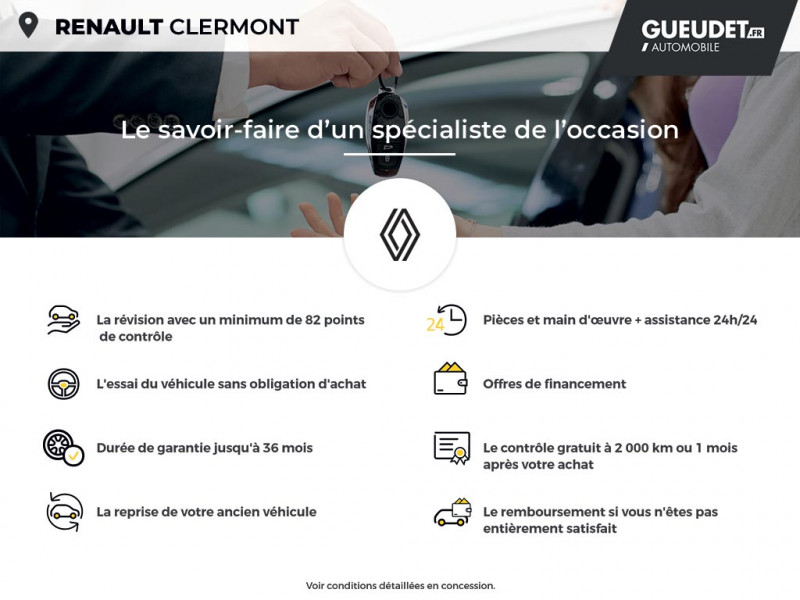 Renault Kadjar 1.3 TCe 140ch FAP Black Edition Blanc occasion à Clermont - photo n°17