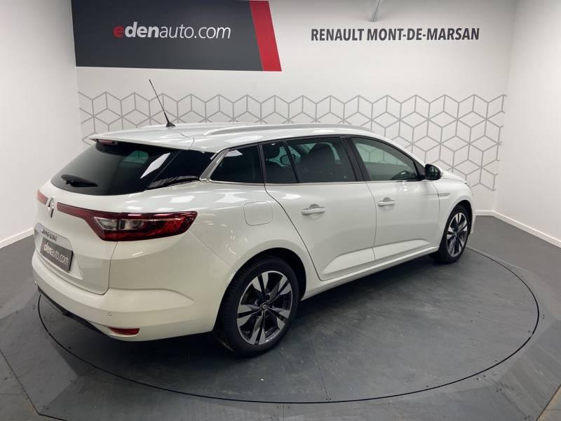 Renault Megane Estate IV ESTATE TCe 160 EDC FAP Intens Blanc occasion à Mont de Marsan - photo n°7