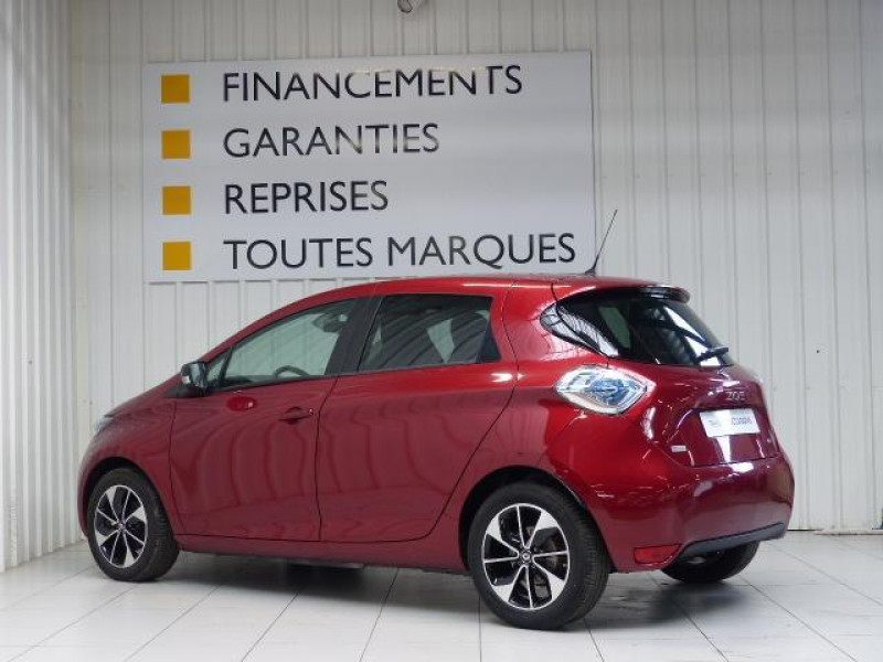 Renault Zoe E-Tech électrique Intens R110 2019 Rouge occasion à MORLAIX - photo n°3