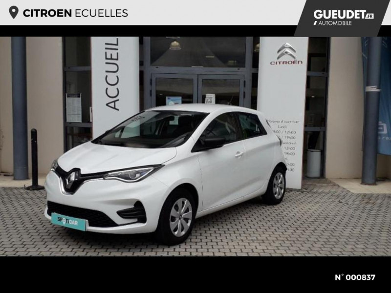 Renault Zoe Life charge normale R110 Achat Intégral 4cv Blanc occasion à Écuelles