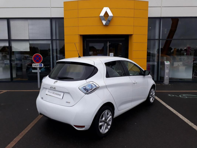 Renault Zoe R90 Zen Blanc occasion à LAMBALLE - photo n°3