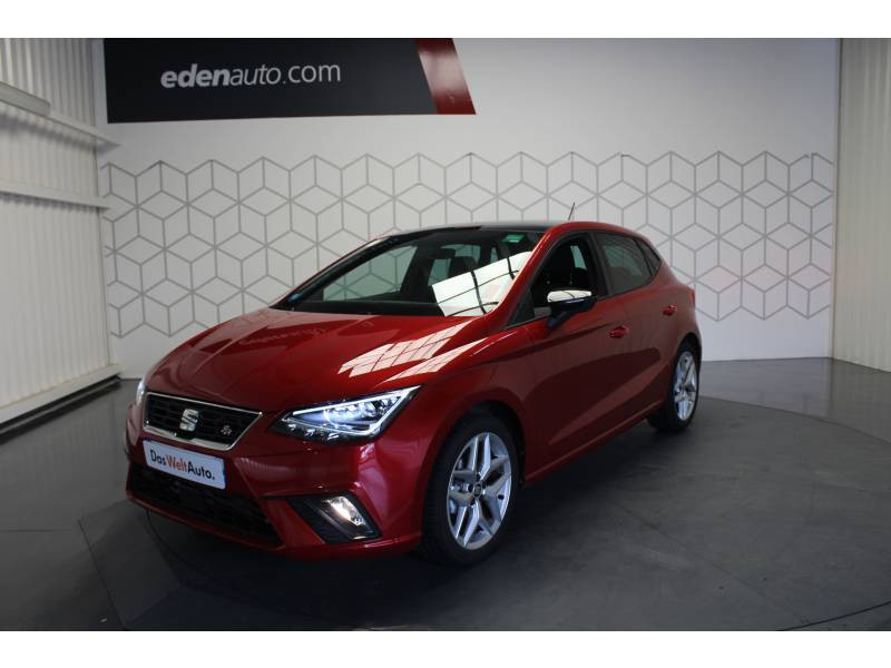 Seat Ibiza 1.0 EcoTSI 115 ch S/S DSG7 FR Rouge occasion à LONS