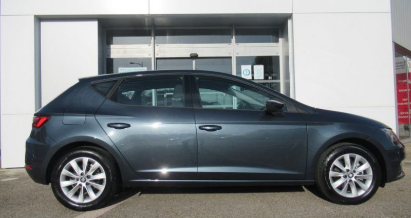 Seat Leon 1.6 TDI 115 Start/Stop BVM5 Style Gris occasion à Bourgogne - photo n°4