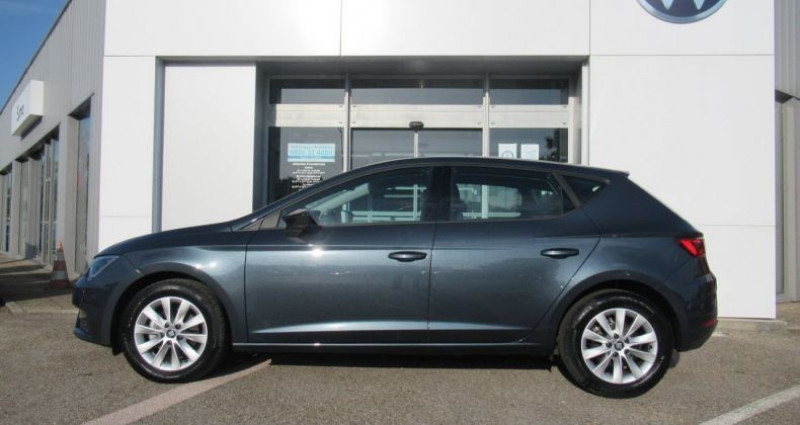 Seat Leon 1.6 TDI 115 Start/Stop BVM5 Style Gris occasion à Bourgogne - photo n°3