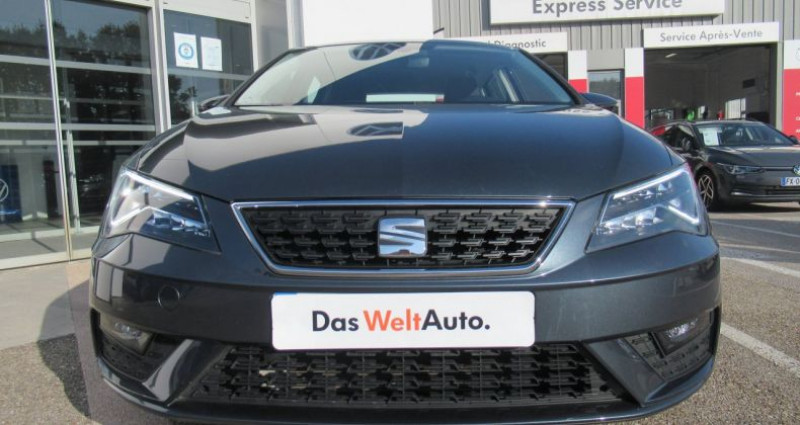 Seat Leon 1.6 TDI 115 Start/Stop BVM5 Style Gris occasion à Bourgogne - photo n°2