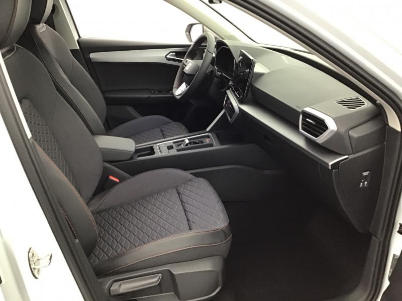 Seat Leon 2.0 TDI 150ch DSG7 FR Pack M Blanc occasion à SAINT-GREGOIRE - photo n°14