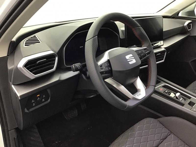 Seat Leon 2.0 TDI 150ch DSG7 FR Pack M Blanc occasion à SAINT-GREGOIRE - photo n°10
