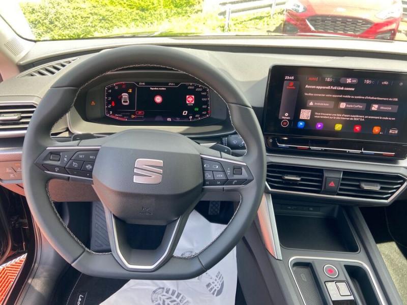 Seat Leon New 2.0 TDI 150 DSG STYLE GPS FULL LED Noir occasion à Montauban - photo n°13