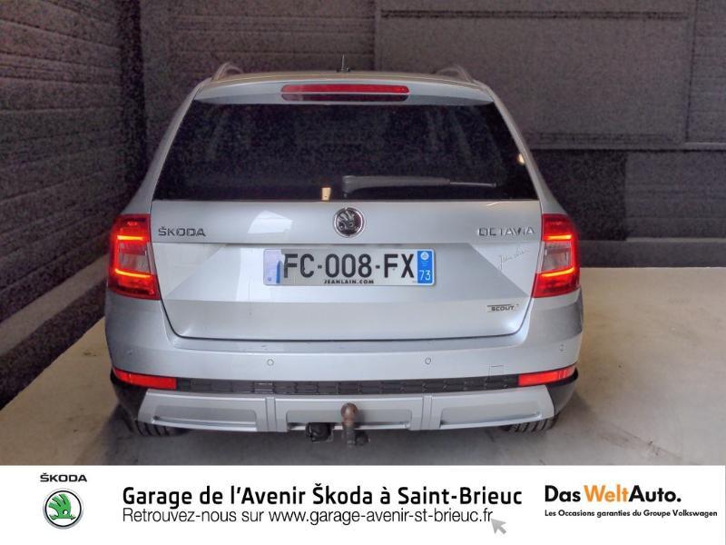 Skoda Octavia 2.0 TDI 150ch SCR Scout 4x4 DSG7 Euro6d-T Gris occasion à Saint Brieuc - photo n°6