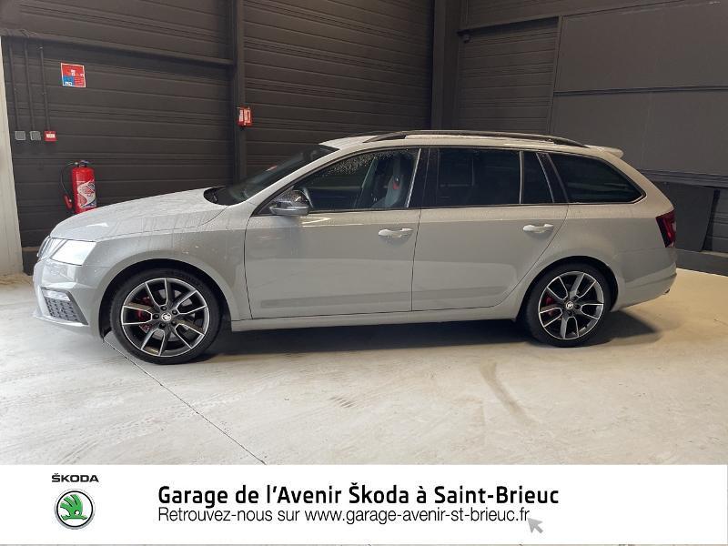 Skoda Octavia 2.0 TDI 184ch SCR RS DSG7 Euro6d-T Gris occasion à Saint Brieuc - photo n°2