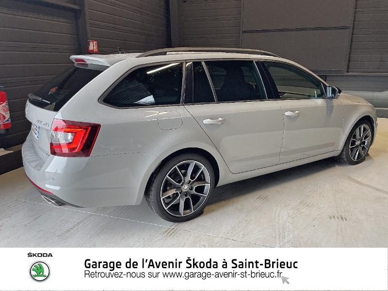 Skoda Octavia 2.0 TDI 184ch SCR RS DSG7 Euro6d-T Gris occasion à Saint Brieuc - photo n°3