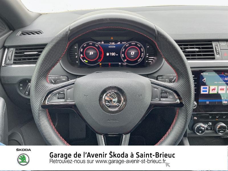 Skoda Octavia 2.0 TDI 184ch SCR RS DSG7 Euro6d-T Gris occasion à Saint Brieuc - photo n°7