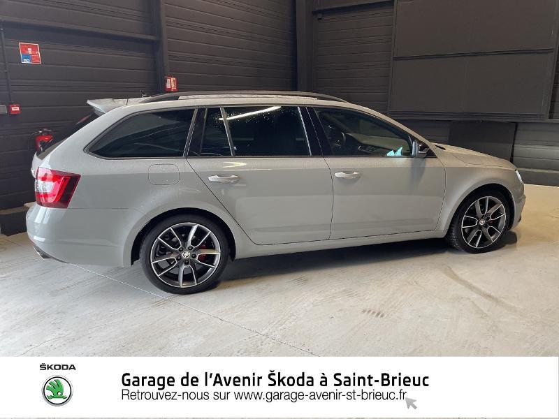 Skoda Octavia 2.0 TDI 184ch SCR RS DSG7 Euro6d-T Gris occasion à Saint Brieuc - photo n°4