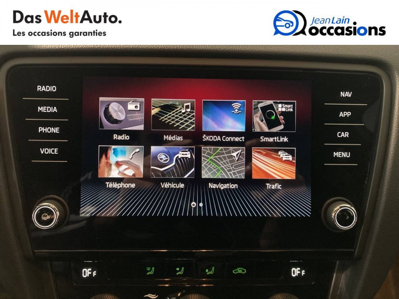 Skoda Octavia Octavia Combi 2.0 TDI 184 ch SCR FAP DSG7 RS 5p Blanc occasion à Voiron - photo n°16