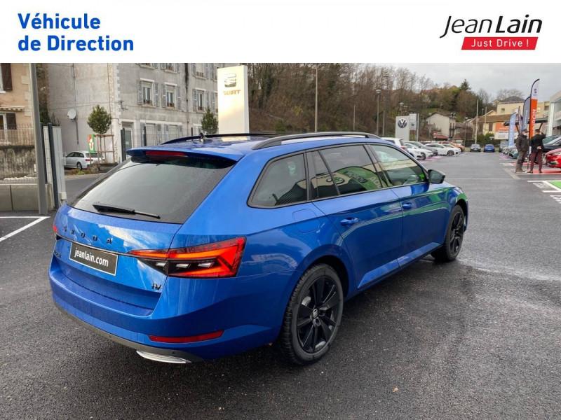 Skoda Superb Superb Combi 1.4 TSI PHEV 218 ch DSG6 Sportline 5p Bleu occasion à Voiron - photo n°5