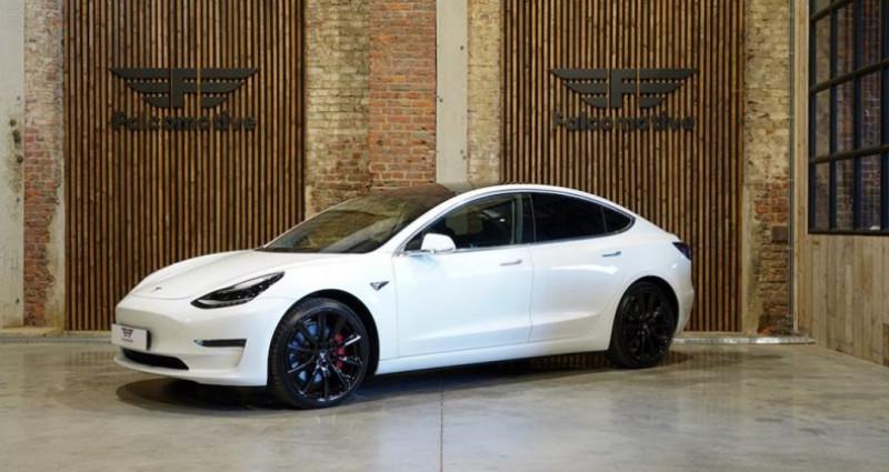 """Tesla Model 3 """"PERFORMANCE"""" Als nieuw! Direct leverbaar! Blanc occasion à HALEN"""