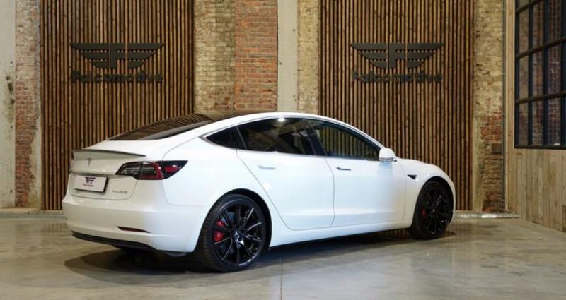 """Tesla Model 3 """"PERFORMANCE"""" Als nieuw! Direct leverbaar! Blanc occasion à HALEN - photo n°2"""