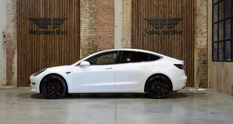 """Tesla Model 3 """"PERFORMANCE"""" Als nieuw! Direct leverbaar! Blanc occasion à HALEN - photo n°3"""