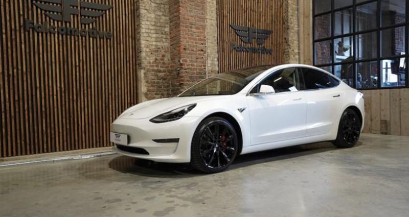 """Tesla Model 3 """"PERFORMANCE"""" Als nieuw! Direct leverbaar! Blanc occasion à HALEN - photo n°6"""