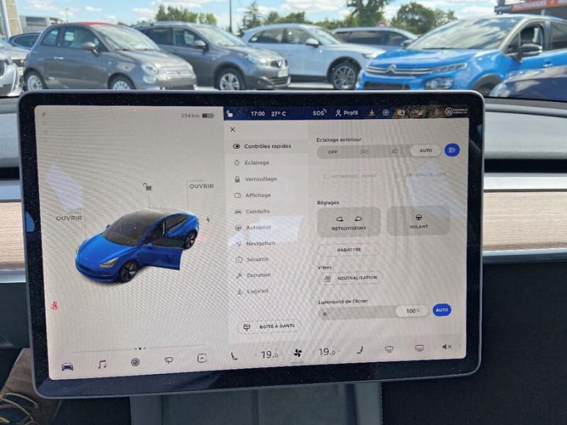 Tesla Model 3 LONG RANGE AWD Bleu occasion à Lescure-d'Albigeois - photo n°14