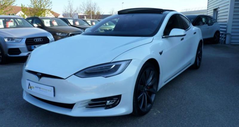 Tesla Model S 100 kWh All-Wheel Drive Ludicrous Performance Blanc occasion à SAINT MAXIMUM - photo n°3