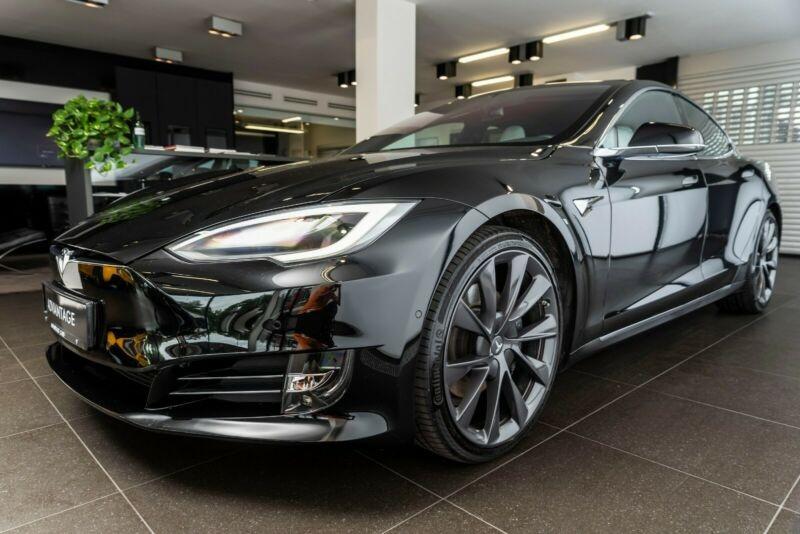 Tesla Model S 100D DUAL MOTOR Noir occasion à Villenave-d'Ornon