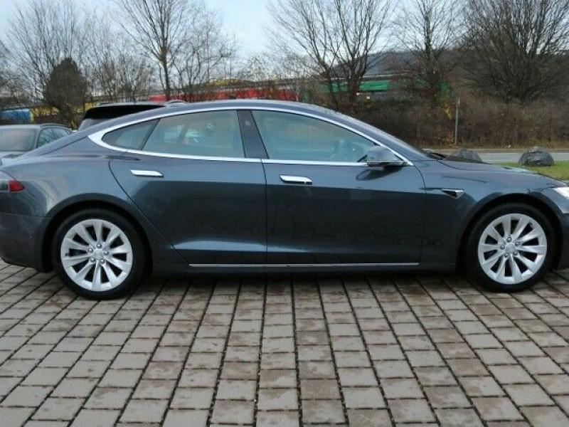 Tesla Model S 100D DUAL MOTOR Gris occasion à Villenave-d'Ornon