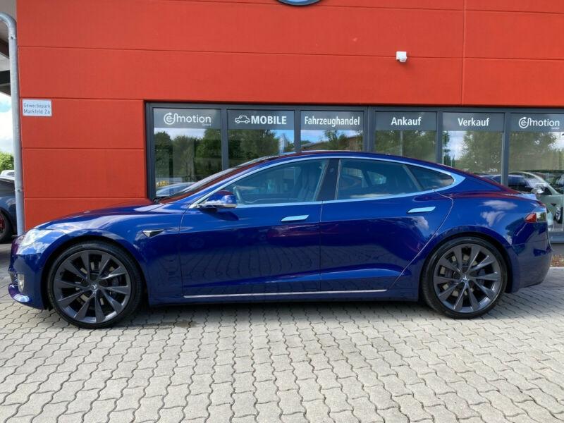 Tesla Model S 100D DUAL MOTOR Bleu occasion à Villenave-d'Ornon - photo n°2
