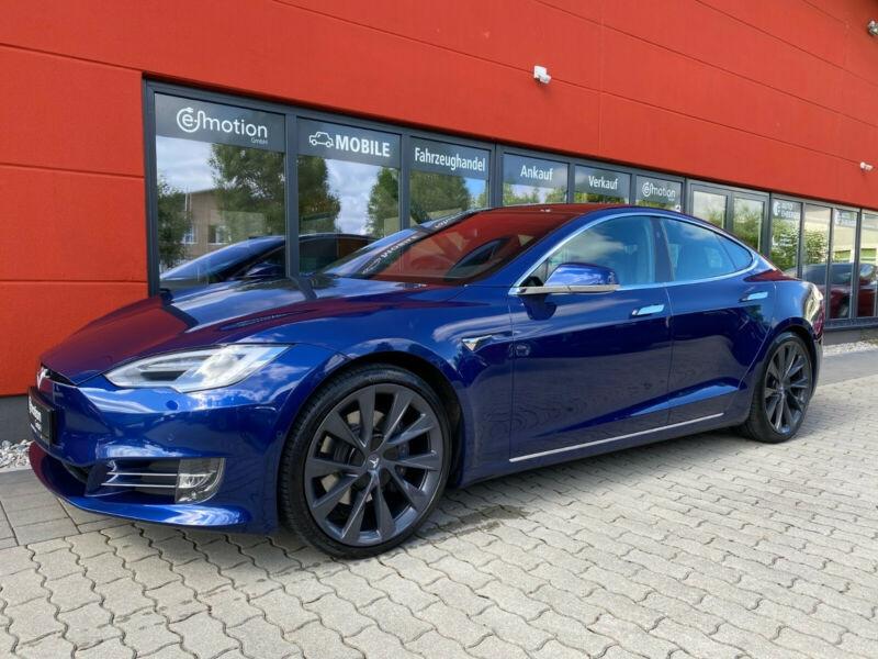 Tesla Model S 100D DUAL MOTOR Bleu occasion à Villenave-d'Ornon