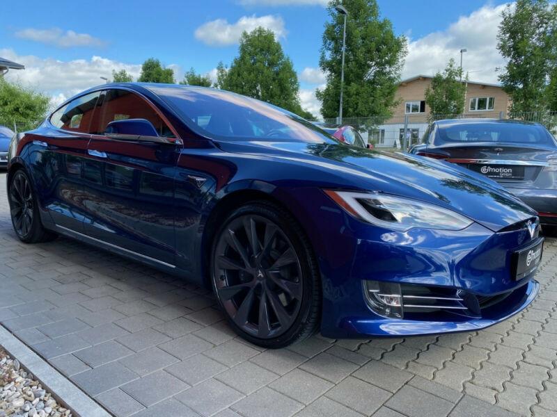 Tesla Model S 100D DUAL MOTOR Bleu occasion à Villenave-d'Ornon - photo n°6