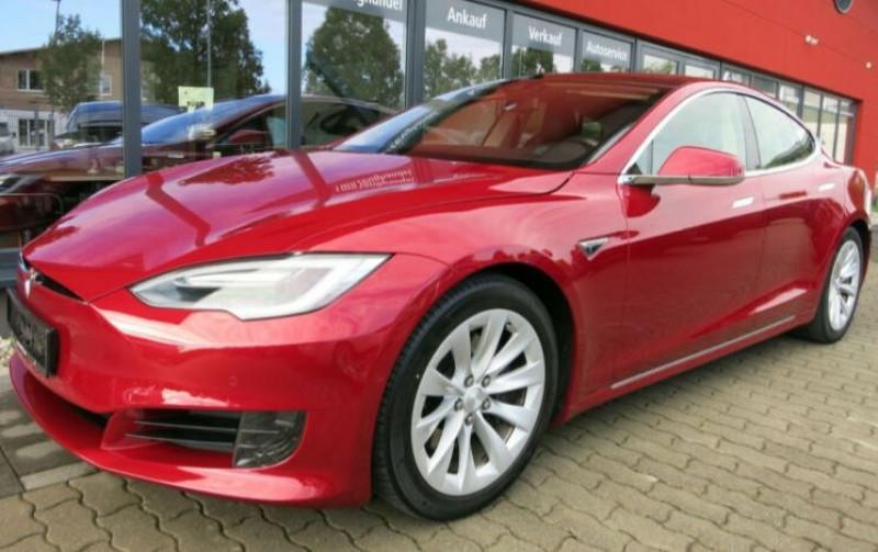 Tesla Model S 75D DUAL MOTOR Rouge occasion à Villenave-d'Ornon