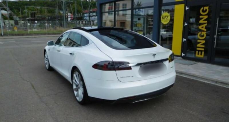Tesla Model S 85 kWh Dual Motor 5p Blanc occasion à Boulogne-Billancourt - photo n°2