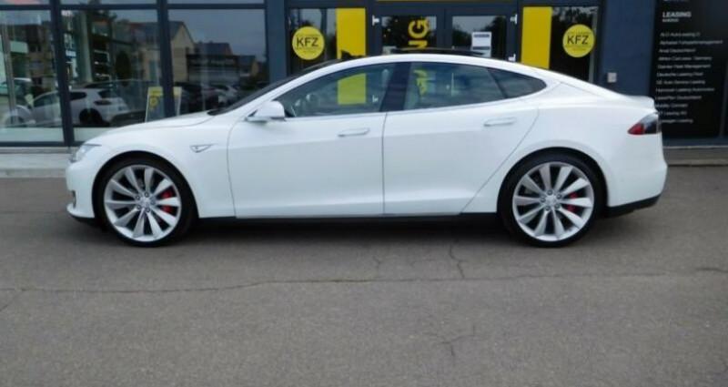 Tesla Model S 85 kWh Dual Motor 5p Blanc occasion à Boulogne-Billancourt - photo n°3