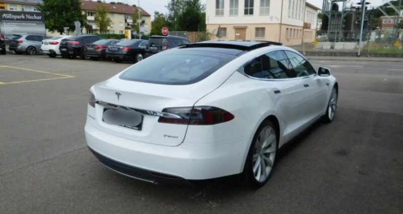 Tesla Model S 85 kWh Dual Motor 5p Blanc occasion à Boulogne-Billancourt - photo n°5