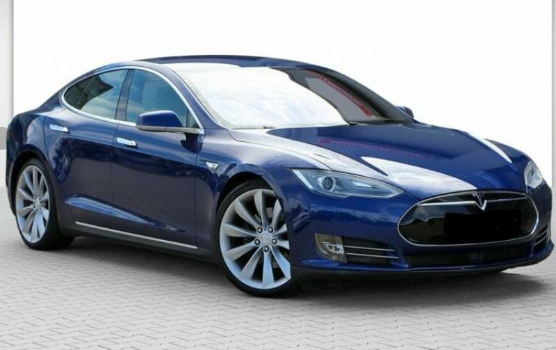 Tesla Model S 85 KWH DUAL MOTOR 5P Bleu occasion à Villenave-d'Ornon - photo n°2
