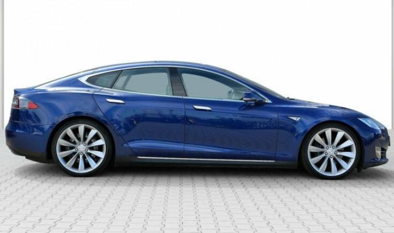 Tesla Model S 85 KWH DUAL MOTOR 5P Bleu occasion à Villenave-d'Ornon - photo n°3
