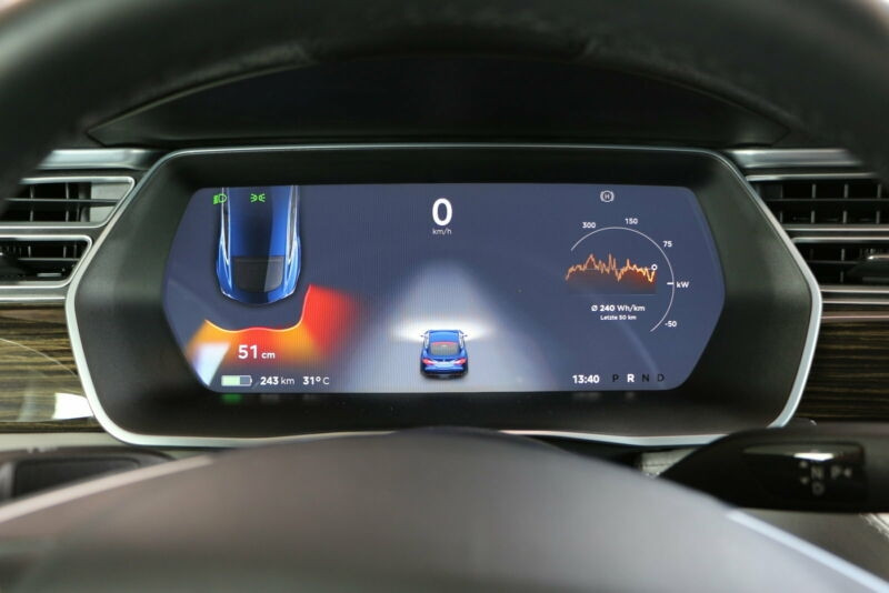Tesla Model S 85 KWH DUAL MOTOR 5P Bleu occasion à Villenave-d'Ornon - photo n°7