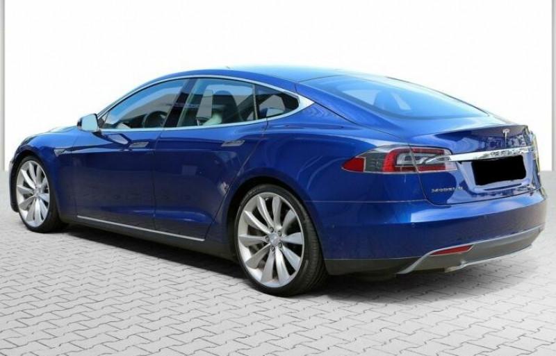 Tesla Model S 85 KWH DUAL MOTOR 5P Bleu occasion à Villenave-d'Ornon - photo n°5
