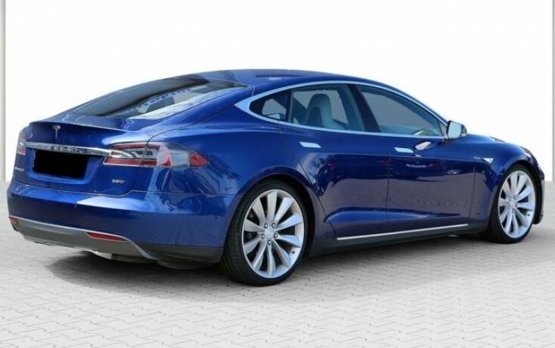 Tesla Model S 85 KWH DUAL MOTOR 5P Bleu occasion à Villenave-d'Ornon - photo n°4