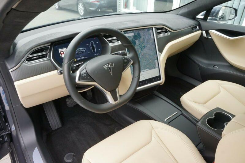 Tesla Model S 90D DUAL MOTOR Gris occasion à Villenave-d'Ornon - photo n°7