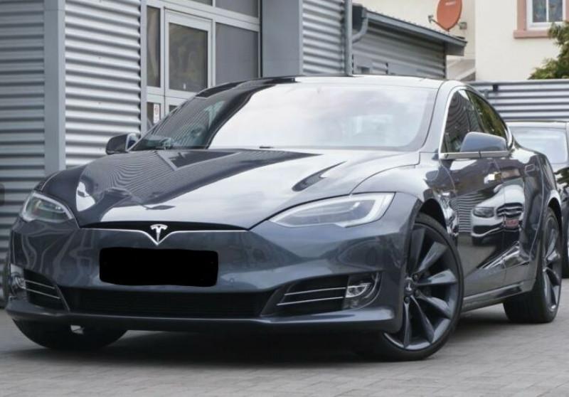 Tesla Model S 90D DUAL MOTOR Gris occasion à Villenave-d'Ornon