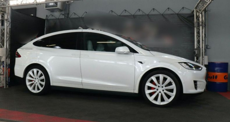 Tesla Model X 100 KWH Performance Dual Motor Blanc occasion à Boulogne-Billancourt - photo n°3
