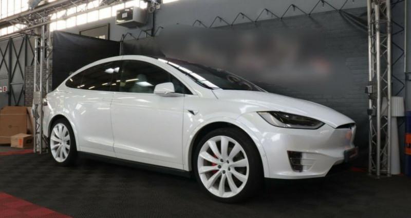 Tesla Model X 100 KWH Performance Dual Motor Blanc occasion à Boulogne-Billancourt - photo n°2