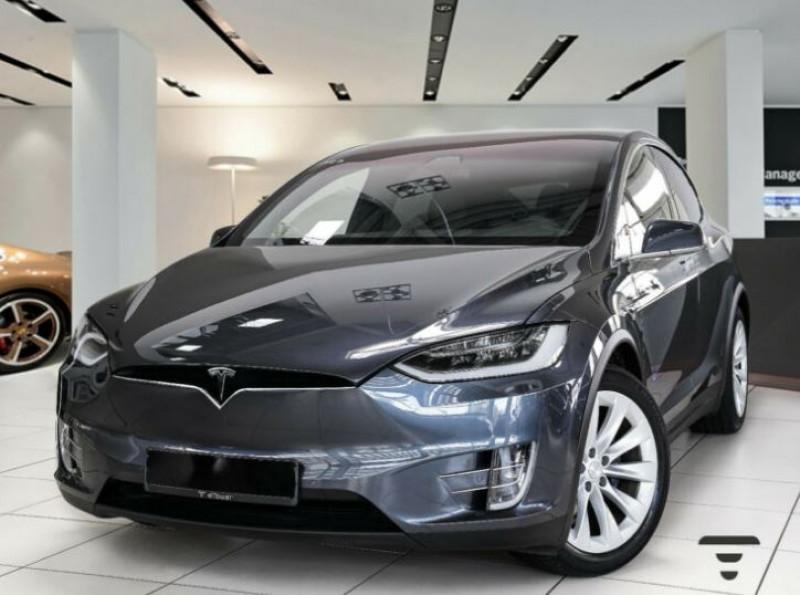 Tesla Model X 75D DUAL MOTOR Gris occasion à Villenave-d'Ornon - photo n°2