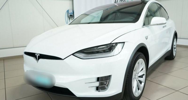 Tesla Model X Long Range AWD Blanc occasion à Boulogne-Billancourt
